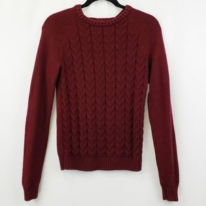 Lands end drifter cozy sweater burgandy XS